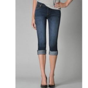 Fidelity Denim Stevie Mid Rise Capri Jeans - 28